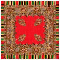 Терем 1377-3, павлопосадский платок шерстяной  с оверлоком