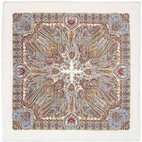 Масленичные гуляния 1334-1, павлопосадский платок шерстяной  с осыпкой (оверлоком), фото 1