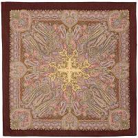 Масленичные гуляния 1334-17, павлопосадский платок шерстяной  с осыпкой (оверлоком), фото 1
