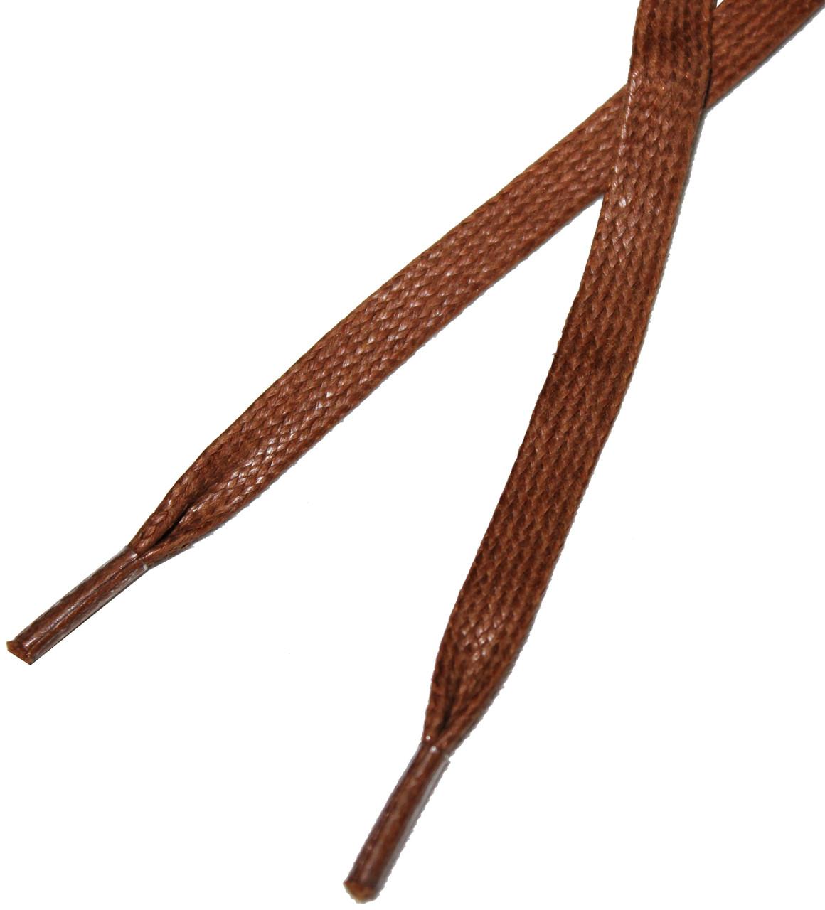 Шнурки в ботинки плоские, пропитка 120см Коричневый