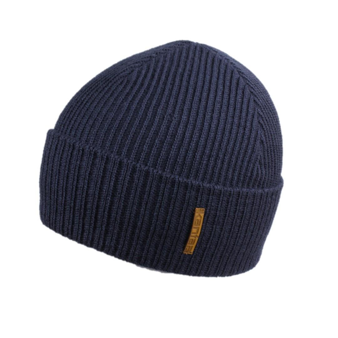 Мужская зимняя шапка КАНТА размер 56-58, синий (OC-474)