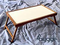 Деревянный столик для завтрака в постель Hygge Vanlig, золотой дуб