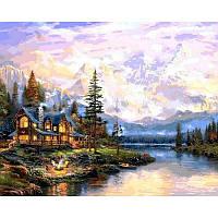 Картина рисование по номерам Babylon Дом в горах 50х65см VPS1113 набор для росписи, краски, кисти, холст