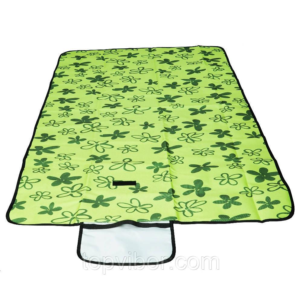 Коврик для пляжа, цвет - зеленый (145 х 80 см), коврик для пикника, коврик на пляж