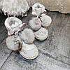 зимние сапоги угги с жемчугом и пайетками ручной работы