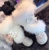 Зимові нові ексклюзивні дизайнерські шкіряні черевики з лисячого хутра , жіночі уггі