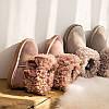 Зимові чоботи з овчини зі вставкою, короткі жіночі уггі