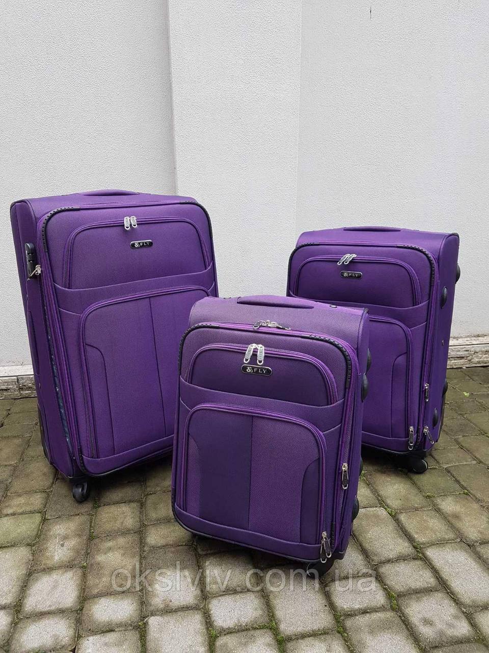 FLY 8303 Польща на 4-х колесах валізи чемоданы сумки на колесах