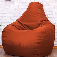 Бескаркасное мягкое кресло-мешок Груша, оранжевый, оксфорд, XXL
