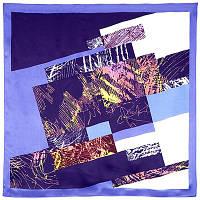 Нон-стоп 1366-13, павлопосадский платок (атлас) шелковый с подрубкой