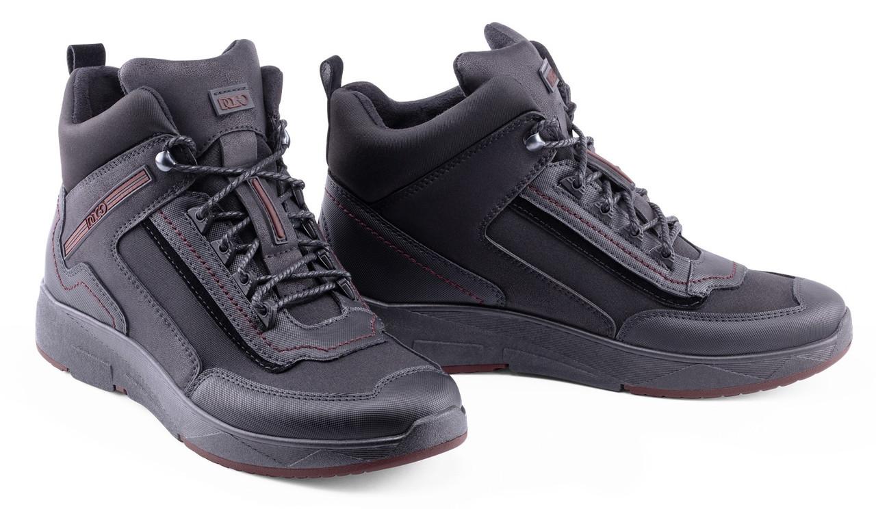 Мужские зимние ботинки DaGo Style спортивные черные 41р. - 27,5см 1271719574