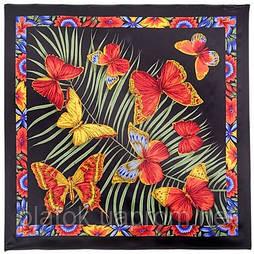 Фіджі 1137-18, павлопосадский хустку (атлас) шовковий з подрубкой