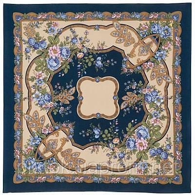 Пробуждение 849-14, павлопосадский платок (крепдешин) шелковый с подрубкой