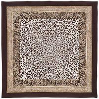 Ягуар 847-17, павлопосадский платок (крепдешин) шелковый с подрубкой