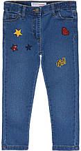 Детские джинсы для девочки синие мягкие 2-3 года
