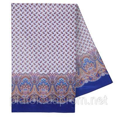 Маркиза 722-13, павлопосадский шарф шелковый крепдешиновый с подрубкой