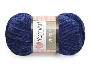 YarnArt Velour, Темно-синий №848