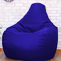 Безкаркасне м'яке крісло-мішок Груша, синій, оксфорд, XXL