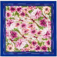 Мимолетное виденье 1407-13, павлопосадский шейный платок (крепдешин) шелковый с подрубкой