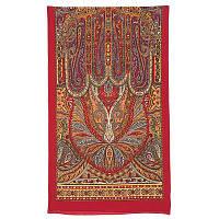 Турандот 594-6, павлопосадский шарф шелковый крепдешиновый с подрубкой