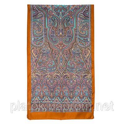 Щелкунчик 827-16, павлопосадский шарф шелковый крепдешиновый с подрубкой