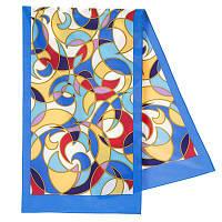 Эвита 1332-13, павлопосадский шарф шелковый крепдешиновый с подрубкой