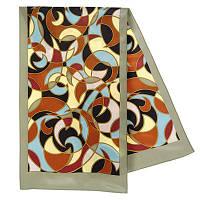 Эвита 1332-1, павлопосадский шарф шелковый крепдешиновый с подрубкой