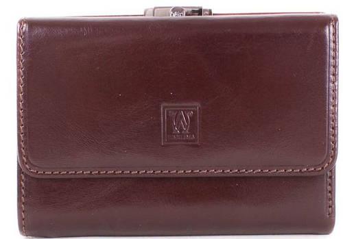 Удобный  маленький  кожаный кошелек  WANLIMA (ВАНЛИМА) W500432708-brown (коричневый)