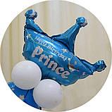 Цифра 10 з повітряних куль на День Народження для хлопчика + 12 куль + корона. Висота цифри 1 метр, фото 2