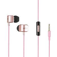 Наушники проводные MP3 Optima OM-380 with mic Pink