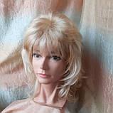 Парик каскад удлиненный жемчужный блонд Е-3460 -L24/613, фото 5