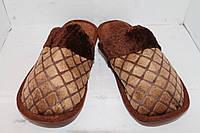 Тапочки мужские домашние с мехом, фото 1