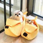 Домик для кошек и собак в форме банана, размер М