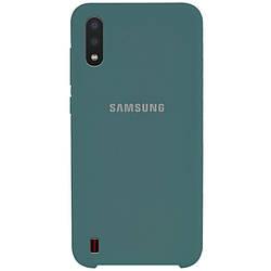 Чехол Samsung Galaxy A01, Silicone case Зеленый / Pine green