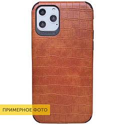 Чехол Xiaomi Redmi Note 8, кожаная накладка Epic Vivi Crocodile series Светло-коричневый