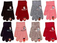 Перчатки детские Корона 0155 (варианты расцветок, S-M)