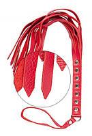 Батіг S&M Fancy Leather Floger Red, 50 див.
