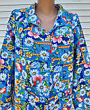 Теплый фланелевый халат 48 размер Джинс, фото 3