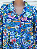 Теплый фланелевый халат 48 размер Джинс, фото 4