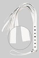 Батіг S&M Fancy Leather Floger White, 50 см