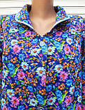 Теплый фланелевый халат 48 размер Ромашки, фото 6