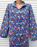 Теплый фланелевый халат 48 размер Ромашки, фото 8