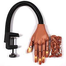 Тренувальна Рука для Навчання Манікюру і Розробки Нових дизайнів на Штативі +100 тіпсів Hand Nail (110166)