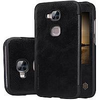 Кожаный чехол Nillkin Qin для Huawei G8 чёрный