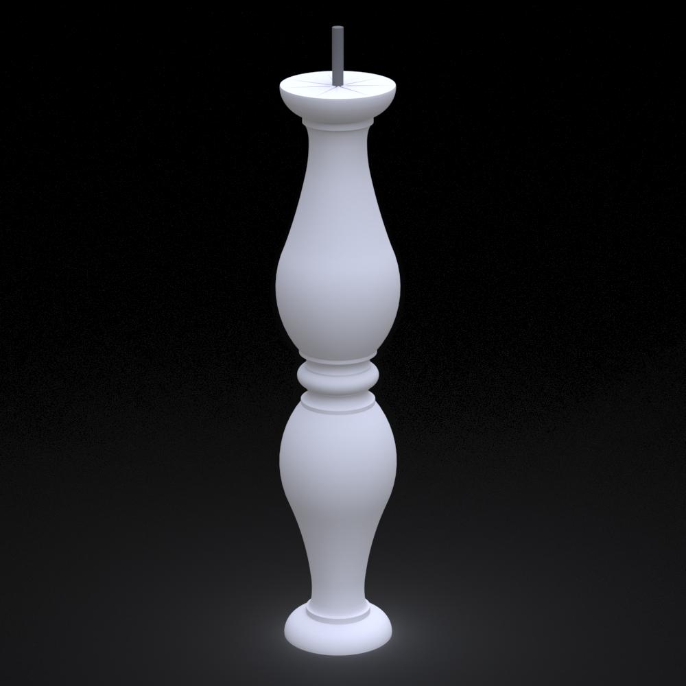 Балясина з гіпсу, гіпсова балясина бл-15 (h 610мм)