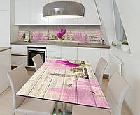 Наклейка 3Д виниловая на стол Zatarga «Весна в Лондоне» 600х1200 мм для домов, квартир, столов, кофейн,