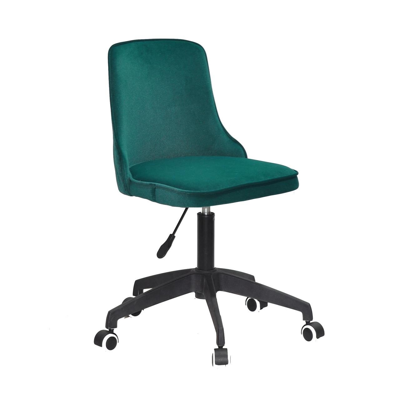 Кресло офисное  на колесах  ADAM BK-Modern OFFICE бархат  , зеленый 1003