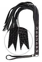 Плеть S&M Fancy Leather Floger Black