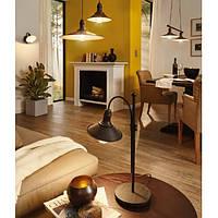 Подвесной металлический светильник Eglo Stockbury Ø21см для ламп Е27, античный коричневый