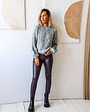 Женская теплая кофта свитер нить марс размер универсал 42-46, фото 2